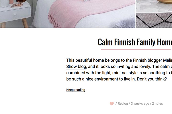 Calm Premium Tumblr Theme - 2
