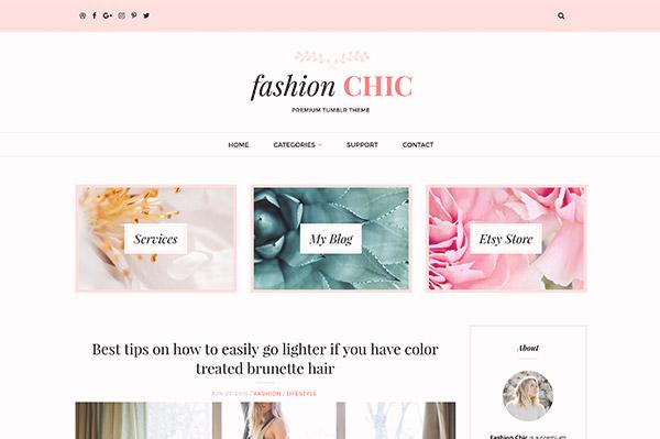 Fashion Chic Tumblr Theme - 1
