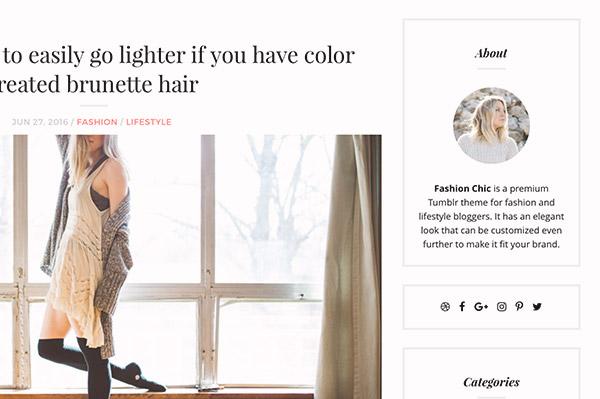Fashion Chic Tumblr Theme - 4