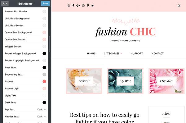 Fashion Chic Tumblr Theme - 8