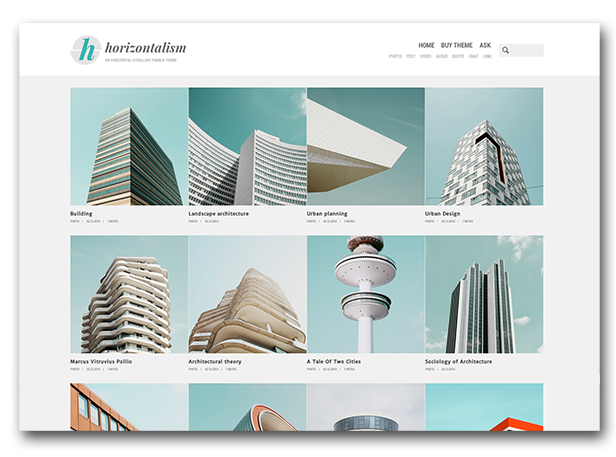 Horizontalism Homepage - Grid Layout