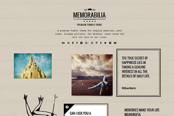 Memorabilia Tumblr Theme - 1