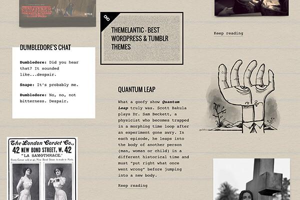 Memorabilia Tumblr Theme - 2