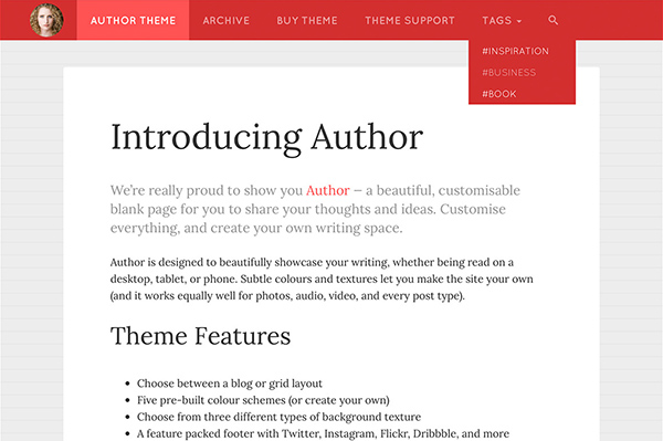 Author Tumblr Theme