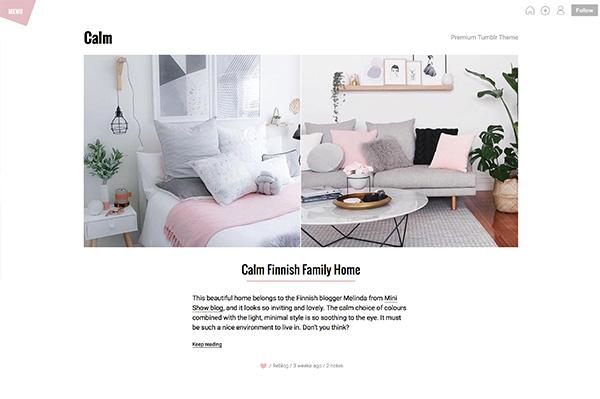 Calm Tumblr Theme - Themelantic