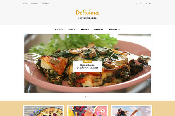Delicious tumblr theme themelantic delicious home forumfinder Images