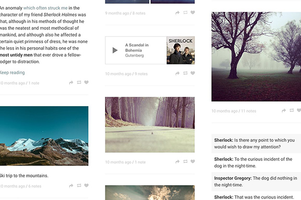 Grid and Blog Layouts