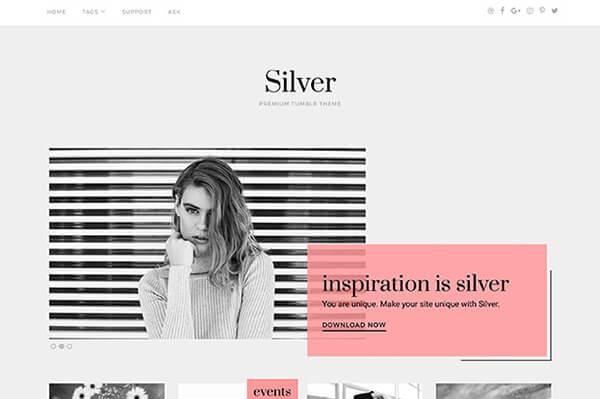 Silver Tumblr Theme - Themelantic