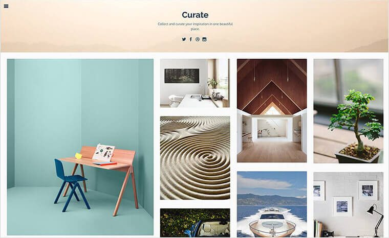 Curate Tumblr Theme