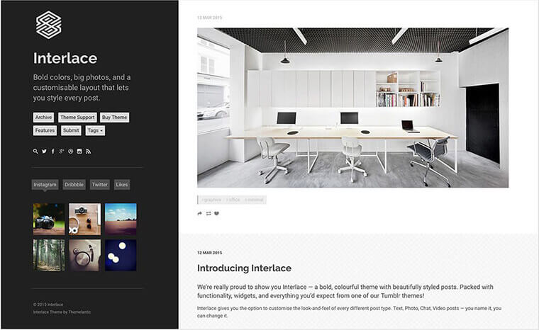 Interlace Tumblr Theme