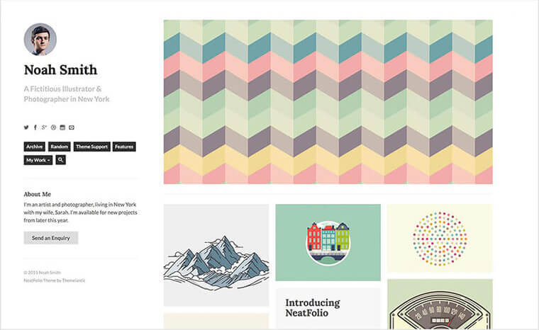 NeatFolio Tumblr Theme