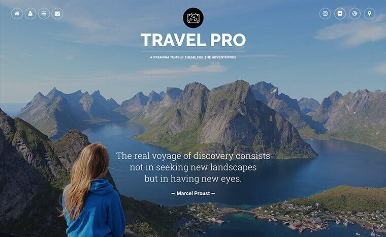 Travel Pro Tumblr Theme