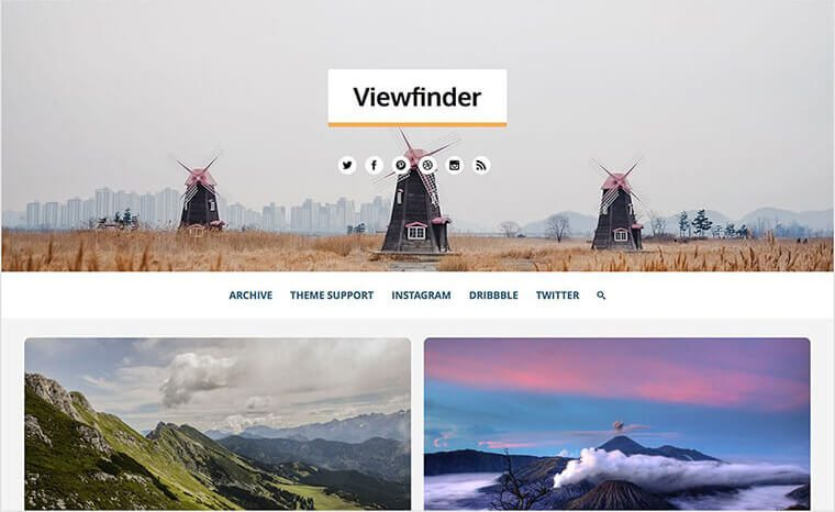 Viewfinder Tumblr Theme