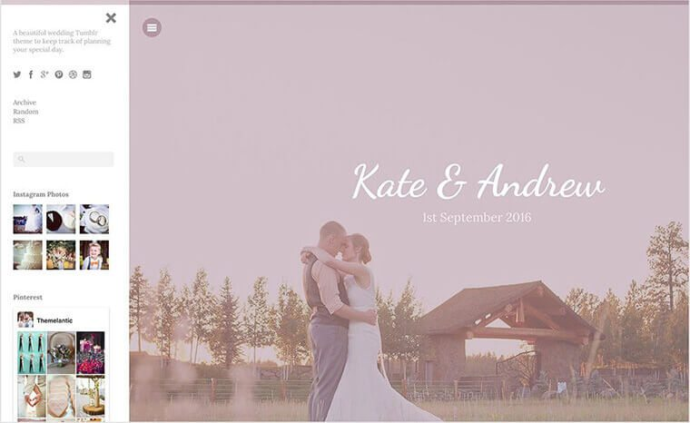 Wedding Tumblr Theme