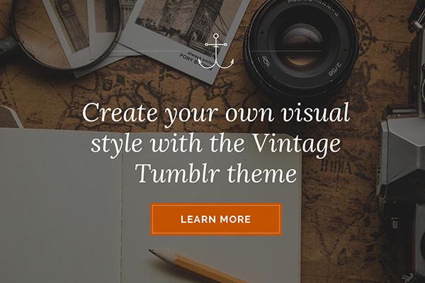 Vintage Tumblr Theme - Themelantic