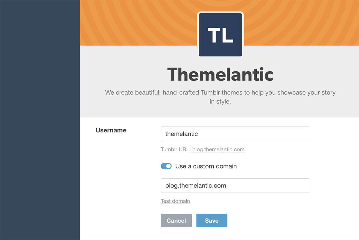 How to Connect a Custom Tumblr Domain - Themelantic