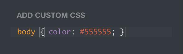 Custom CSS on Tumblr